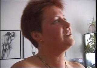 Horny redhead mature German