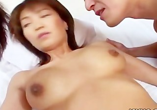 busty japanese aged wife drilled at home