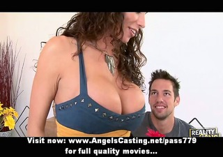 glamorous redhead doxy with very large boobs