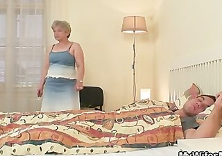 she fucks her son in law as he sleeps