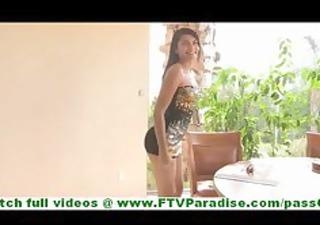 Bonaja sexy latina milf flashing panties and