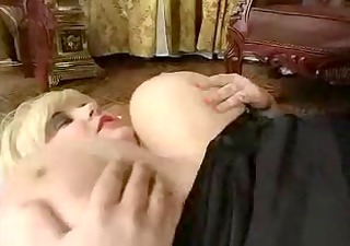 older big beautiful woman bonks slender lad by