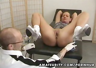 mature amateur wife goes for a checkup and gets