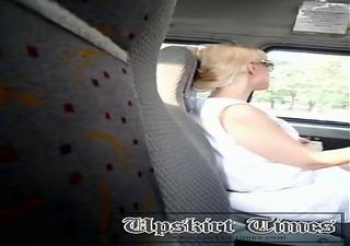 Upskirt maxi taxi milf panties whites