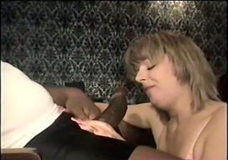 Swinger wife eating the big black cock - homemade